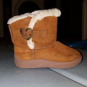 Tan fur boots size 5
